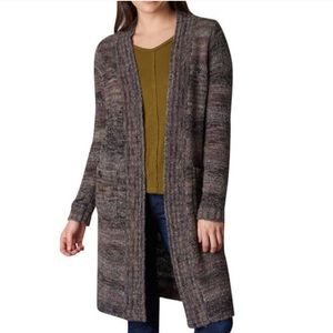 PrAna Sabina Knit Duster Open Front Cardigan
